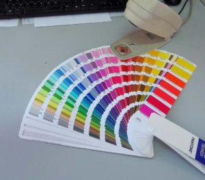 Tampoprint, tamponová barva vzorník Pantone