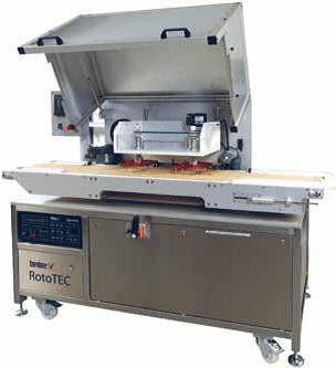Tantec korona RotoTEC-X - předúprava povrchu koronou výrobků pohybujících se na dopravníku