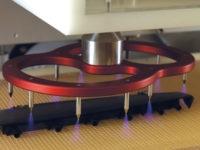 Obrázek: Tantec korona RotoTEC-X - předúprava povrchu koronou výrobků pohybujících se na dopravníku