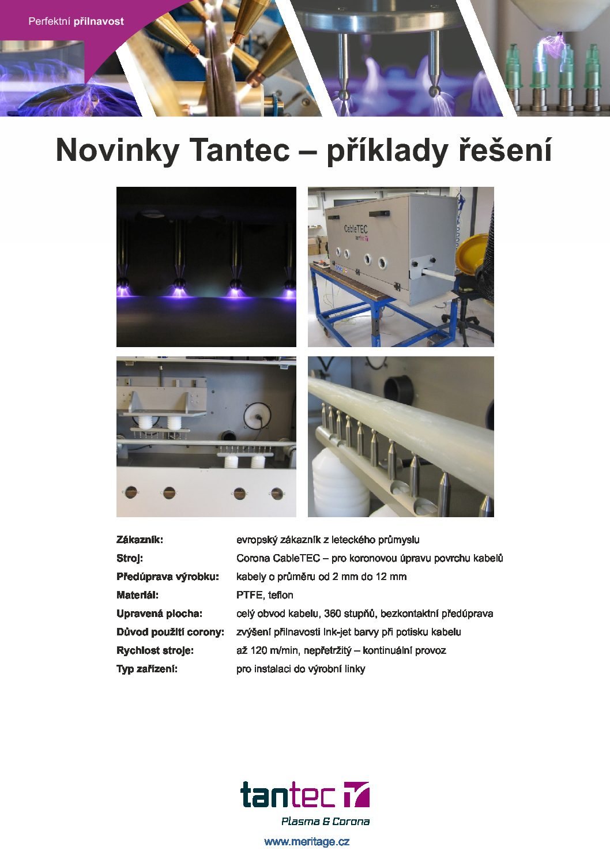 Tantec CableTEC - koronová úprava povrchu kabelů